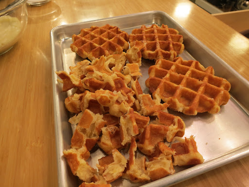 can save some time by using frozen waffles. Any type of frozen waffle ...