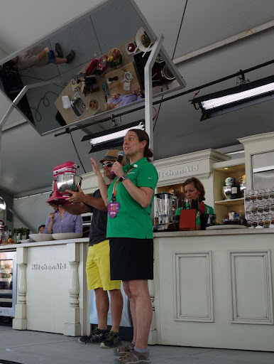 Our second day at the sobe wine and food festival the martha stewart blog - Flamingo pink kitchenaid mixer ...