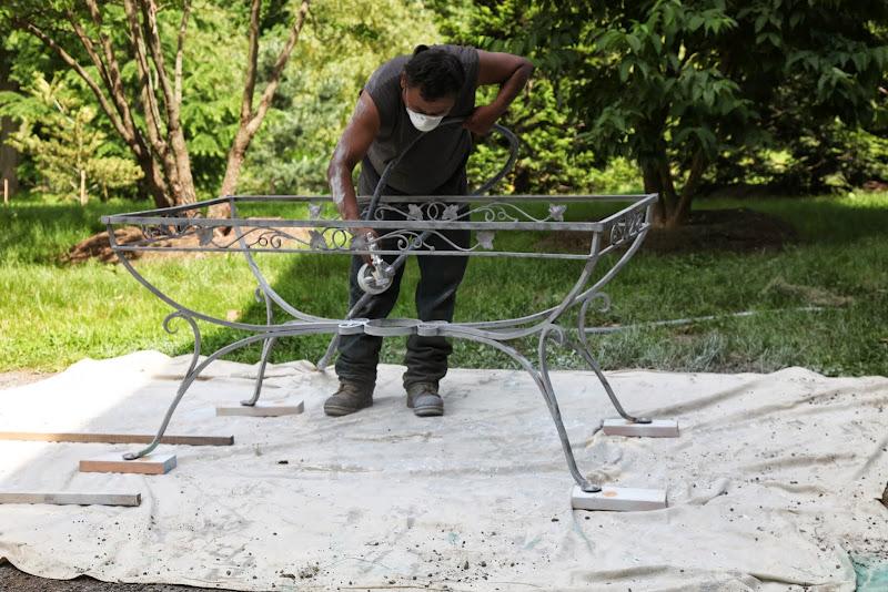 Repainting My Outdoor Metal Furniture