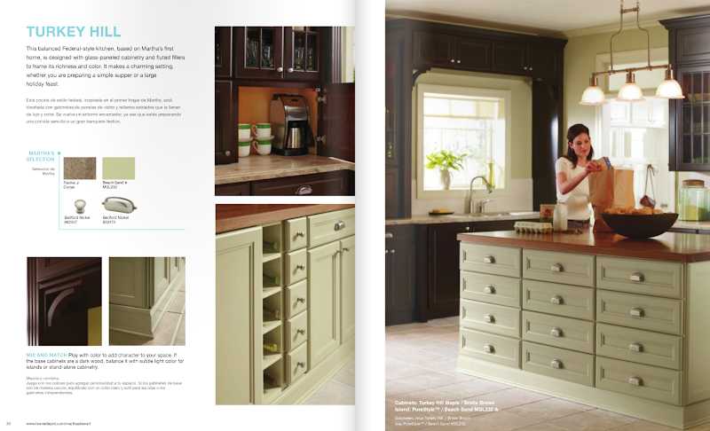 Have you seen the martha stewart living kitchens available for Federal style kitchen