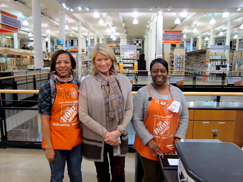 1 Here I Am With Clara And Liz Two Home Depot Associates Who Service The Concierge Desk