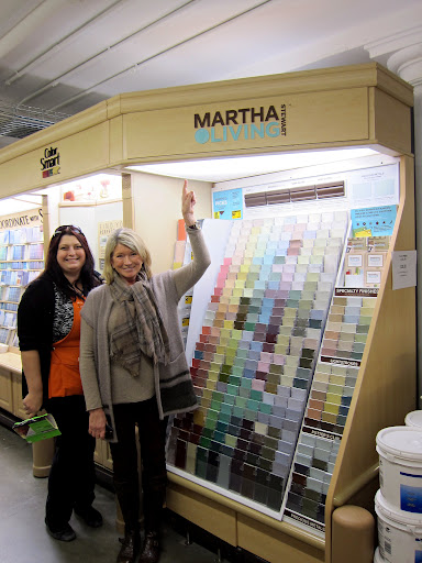 2 Pelly Checci, The Store Manager, And I In Front Of The Martha Stewart  Living Paint Color Selections
